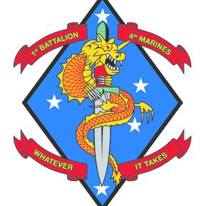 List of United States Marine Corps battalions | Military ...  |1st Battalion 4th Marines Logo